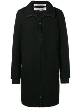 Individual Sentiments woven straight fit coat - Black