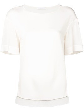 Fabiana Filippi sheer trim T-shirt - White