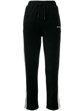 Diesel embroidered logo track pants - Black