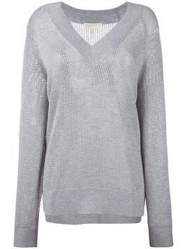 Michael Michael Kors perforated detail sweatshirt - Grey
