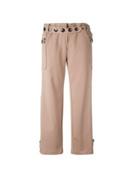 Romeo Gigli Pre-Owned twill trousers - PINK