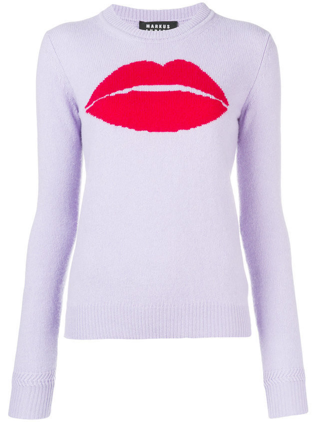 Markus Lupfer Mia lip sweater - Pink & Purple