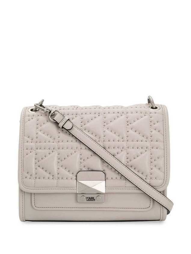 Karl Lagerfeld Kuilted shoulder bag - NEUTRALS