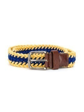 The Animals Observatory woven buckle belt - Yellow