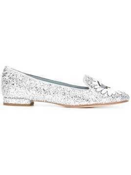 Chiara Ferragni glitter eyes slippers - Metallic