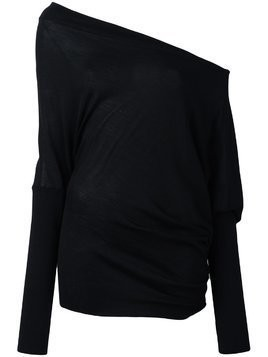 Tom Ford off-shoulder loose fit jumper - Black