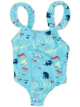 Knot Jungle Pack swimsuit - Blue