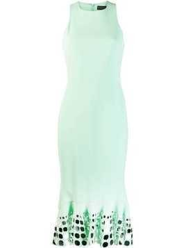 David Koma embellished midi dress - Green
