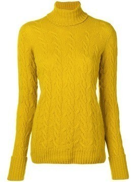 Drumohr cable knit turtle neck sweater - Yellow