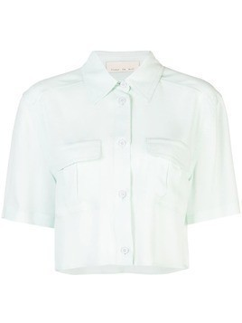 Fleur Du Mal cropped work shirt - Green
