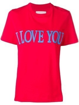 Alberta Ferretti I Love You T-shirt - Red