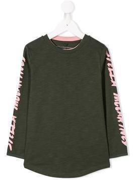 Stella McCartney Kids logo sleeve T-shirt - Green
