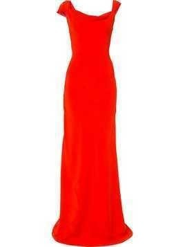 Oscar de la Renta cowl-neck gown - Red