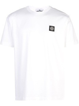 Stone Island embroidered logo T-shirt - White