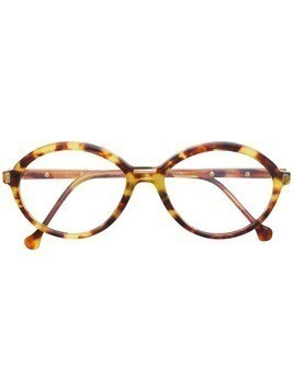 Emilio Pucci Pre-Owned tortoiseshell round glasses - Yellow