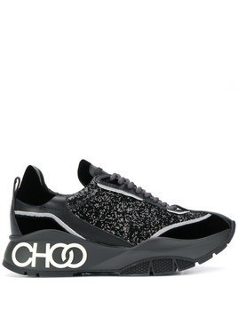 Jimmy Choo Raine galactica glitter sneakers - Black