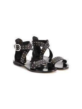 Gallucci Kids stud-embellished flat sandals - Black