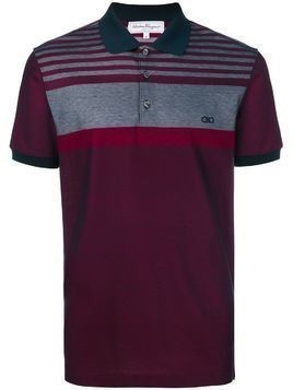 Salvatore Ferragamo button front polo shirt - Red