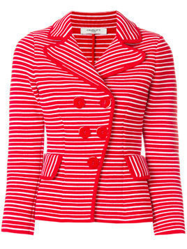 Charlott off-centre jacket - Red