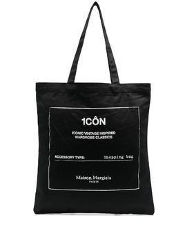 Maison Margiela graphic print shopping tote - Black