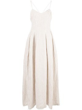 Mara Hoffman Lauren striped flared dress - Brown