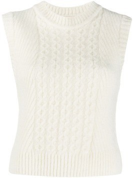 Low Classic ribbed knit vest - White