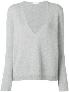 Borgo Asolo deep V-neck jumper - Grey