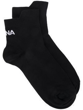 Ssheena logo ankle socks - Black