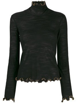 See By Chloé ruffle trim knit top - Black