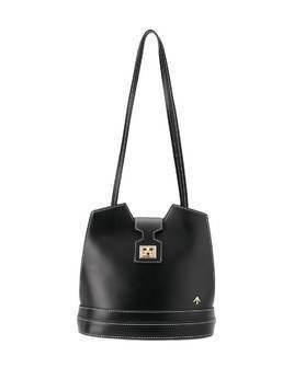 Manu Atelier stitch detail shoulder bag - Black