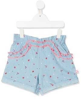 Billieblush printed chambray shorts - Blue