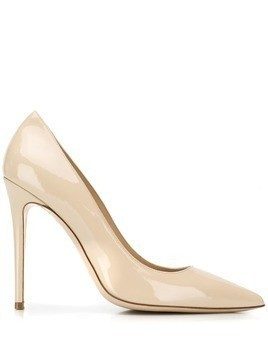 Deimille varnished pointed pumps - Neutrals