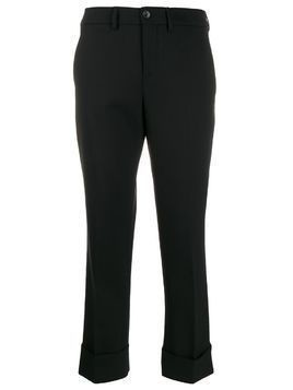 Incotex cropped tailored trousers - Black