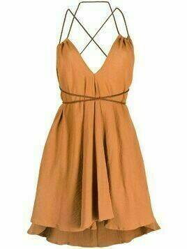 Caravana Mahahual cotton-blend dress - ORANGE