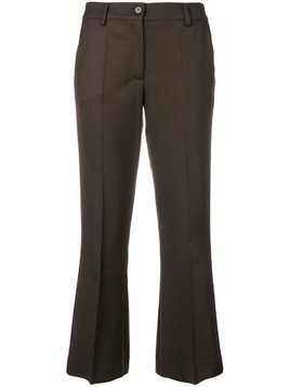 P.A.R.O.S.H. cropped flared trousers - Brown
