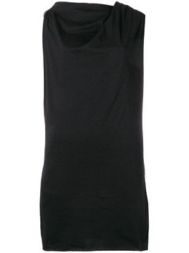 Rick Owens DRKSHDW ruched jersey top - Black