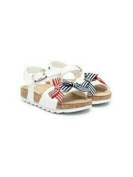 Monnalisa sailor bow sandals - White