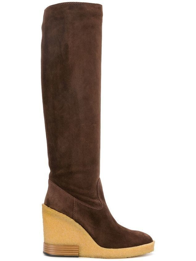 Tod's knee length wedge boots - Brown