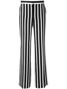 Alberta Ferretti striped wide leg trousers - Blue