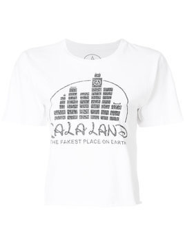 Local Authority La La Land cropped T-shirt - White