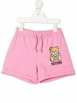 Moschino Kids Toy Bear shorts - PINK