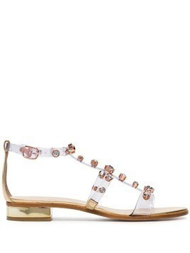 Sophia Webster transparent Dina PVC sandals - Gold