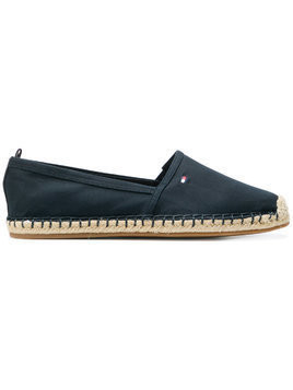 Tommy Hilfiger logo embroidered espadrilles - Blue