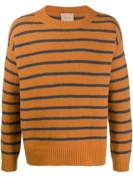 Federico Curradi Striped wool-knit sweater - Brown
