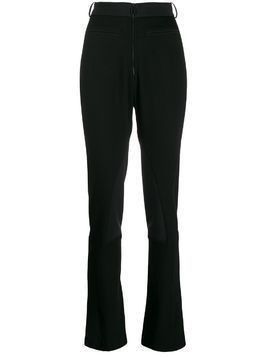 Mugler flared fitted trousers - Black