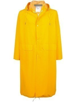 Geo mid-length raincoat - Yellow