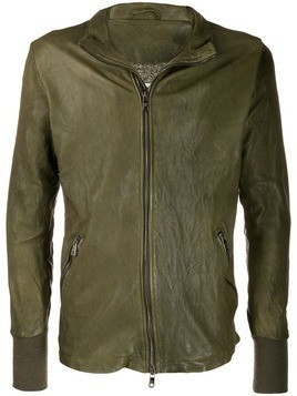 Giorgio Brato zip-up wrinkled-effect jacket - Green
