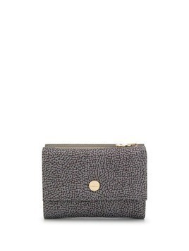 Borbonese printed small wallet - Grey