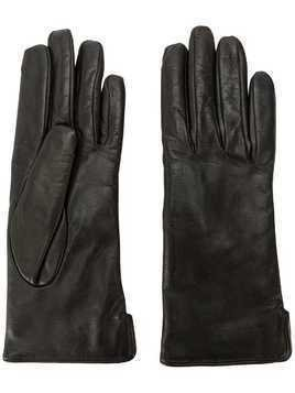 Mario Portolano leather gloves - Black