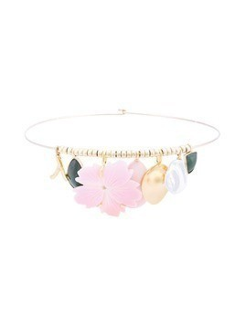 Lizzie Fortunato Jewels Sardinia floral necklace - Gold